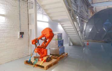 Traslado robot laboratorio